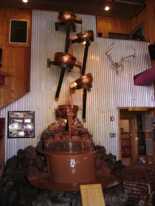Who knew?  The world's largest chocolate falls is in Anchorage--not to be confused with the world's largest chocolate fountain, which is in Vegas.
