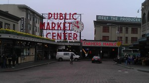 This is what Pike Place looks like just before 10am.