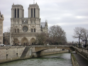 The Notre Dame Cathedral.  It's almost as recognizable as the Notre Dame fight song.