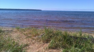 The view from Cornucopia, Wisconsin.  The locals consider this lake superior to all others, but the name of it escapes me.