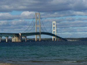 The Mackinac Bridge, affectionately known as Big Mac--not to be confused with a McDonald's Big Mac as it is five miles long and has fewer calories.