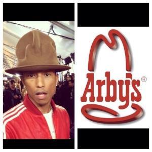 Pharrell's Arby's hat