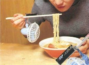 chopstick fan
