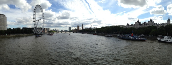 A view of London's great river.  I think they call it The Tim's.