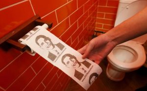 The Vladimir Putin Cafe in Russia uses a special kind of toilet paper. I guess he had more flexibility and softness after re-election. Reuters